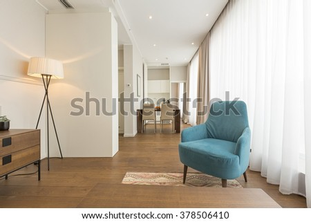 Living room interior in modern apartment