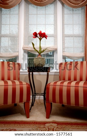 living room interior with two chairs