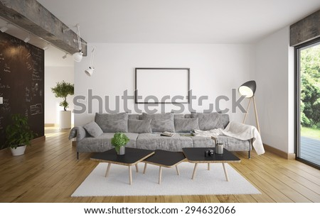 Living room - Minimalism (3 d render using 3 d s Max) #294632066