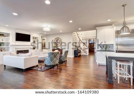 Living Room Panorama of Luxury Home #164109380