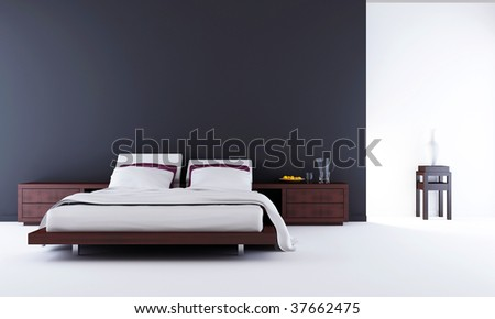 Living Room Setting - bed to face a blank wall