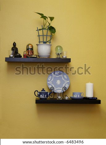 Living Room Shelving on Living Room Shelves On Living Room Shelves Stock Photo 6483496