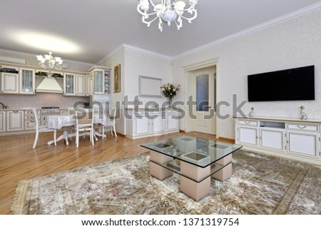 living room with a beautiful interior #1371319754