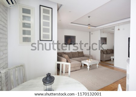 living room with kitchen.interior #1170132001