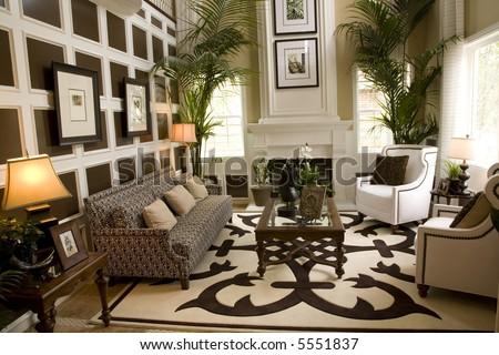 Living Room With Luxury Decor Stock Photo 5551837