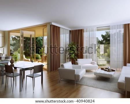 Living room with overlooking the garden