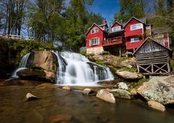 Living Waters ministry Balsam Grove, NC waterfall