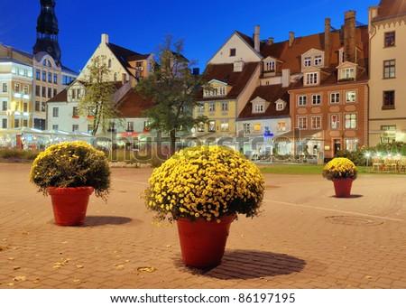 Livu square in Riga, Latvia.