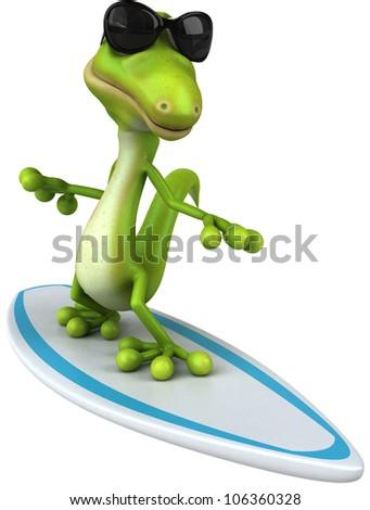 Lizard surfing