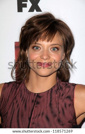 lizzie brochere at the premiere screening of fx s american horror
