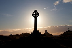 Llandwyn Island a mystical and historic island with crosses lighthouses and ruins off Newborough Anglesey North wales