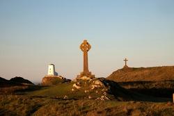 Llandwyn Island and Newborough Beach on the Isle of Anglesey North Wales