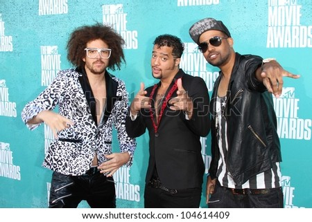LMFAO at the 2012 MTV Movie Awards Arrivals, Gibson Amphitheater, Universal City, CA 06-03-12