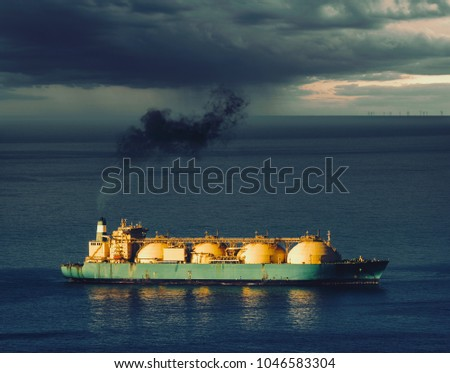LNG tanker on the ocean