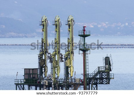 lng terminal - stock photo