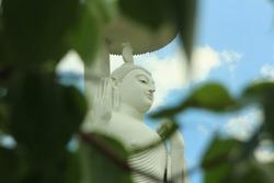 Load Buddha statue and the temple of arts in  Srilanka.  -ranagala . Image art