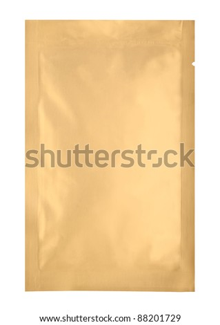 loaded bronze aluminum foil bag package with fine cut and work path