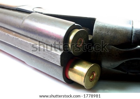 Loaded Shotgun - stock photo