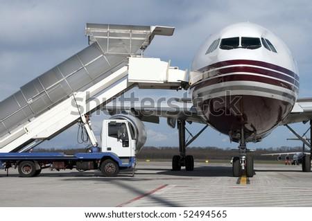 loading airplane