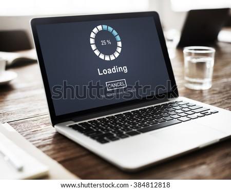 Loading Bar Load Waiting Indicator Concept #384812818