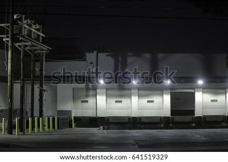 loading dock at night