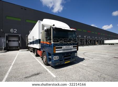 Loading docks - stock photo