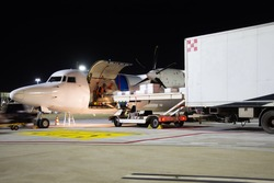 Loading operations of a small cargo aircraft
