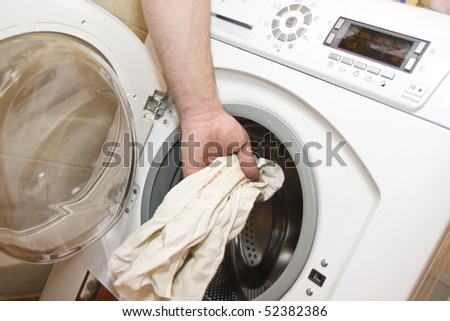 Loading the washing machine