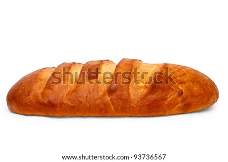 loaf delicious of bread isolated on white background