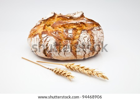 loaf of bread baked in wood oven