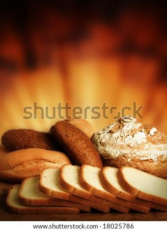 Loaf of bread over background.