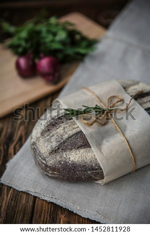 Loaf of bread rustic style #1452811928