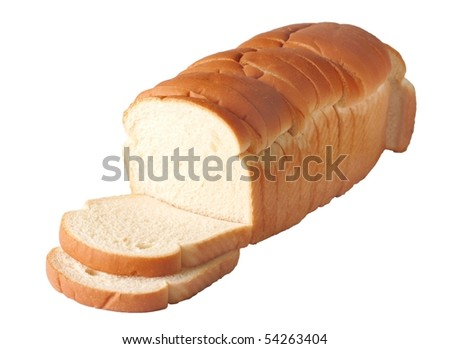 White Bread Loaf Loaf of White Bread Isolated