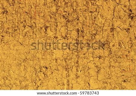 Loam wall's rough surface, background
