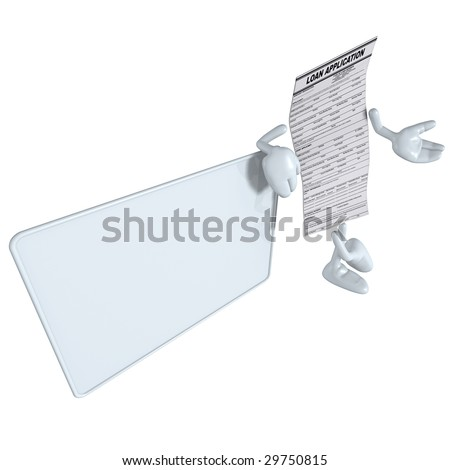 Loan Application With Blank Sign