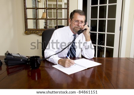 Loan officer at local bank is going to interview business man to better understand his needs