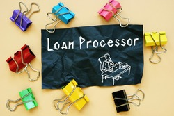 Loan Processor  phrase on the page.