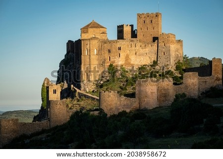 Loarre castle, Huesca, Pirineos Range,  Spain Foto stock ©
