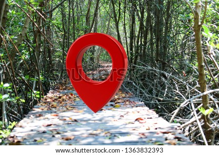 Loation or red pin indicating the location according to various tourist attractions in Thailand, 3D illustrations – illustrations    #1363832393