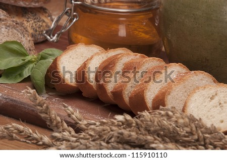 Loaves of bread, country theme