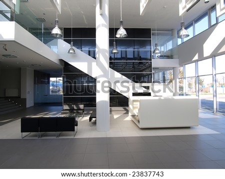 lobby in a modern building