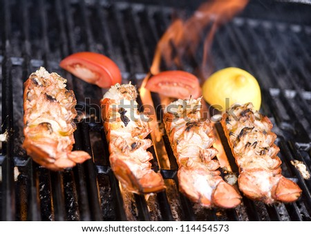Lobster on the grill