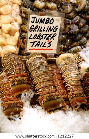 Lobster tails, Pike Place Market, Seattle
