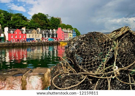 lobster trap at the pier in Tobermory