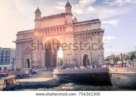 local and international tourist visit gateway of india, mumbai, india #756361300