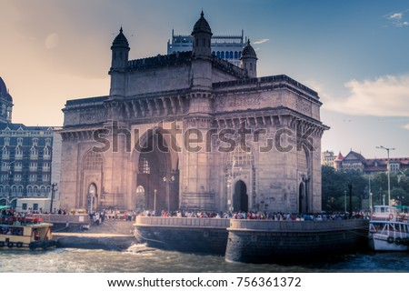 local and international tourist visit gateway of india, mumbai, india #756361372