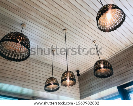 Local bamboo lamps on ceiling #1569982882