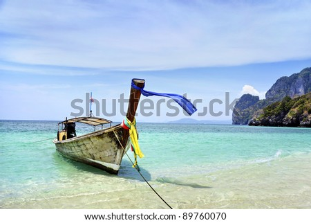 local boat and traditional boat in Thailand