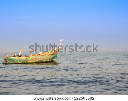 local fishing boat of thailand