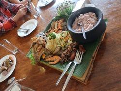 Local food in Baguio, Philippines.